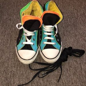 Converse All-Star sneakers size 3 multi colors.